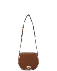 Bolso bandolera de cuero marrón de Valentino
