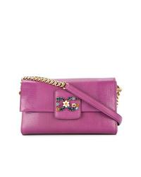 Bolso bandolera de cuero morado de Dolce & Gabbana