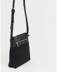 Bolso bandolera de cuero negro de Juicy Couture