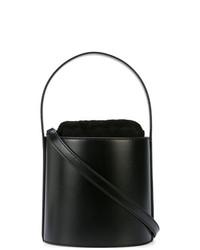 Bolso bandolera de cuero negro de Staud
