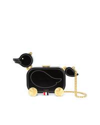 Bolso bandolera de cuero negro de Thom Browne