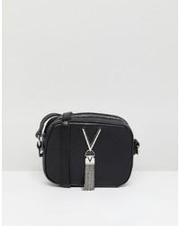 Bolso bandolera de cuero negro de Valentino by Mario Valentino
