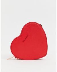 Bolso bandolera de cuero rojo de Ted Baker