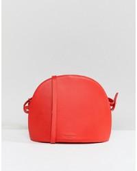 Bolso bandolera de cuero rojo de Vagabond