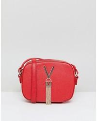 Bolso bandolera de cuero rojo de Valentino by Mario Valentino