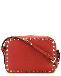 Bolso Bandolera de Cuero Rojo de Valentino