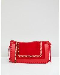 Bolso bandolera de cuero rojo de Yoki Fashion
