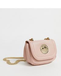 Bolso bandolera de cuero rosado de Hill & Friends