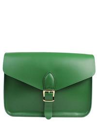 Bolso bandolera de cuero verde