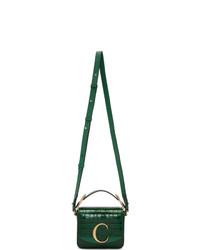 Bolso bandolera de cuero verde oscuro de Chloé