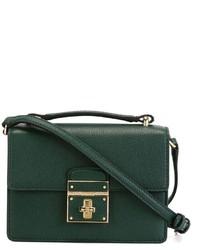Bolso bandolera de cuero verde oscuro de Dolce & Gabbana