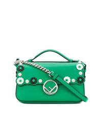 Bolso bandolera de cuero verde de Fendi