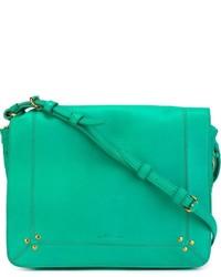Bolso bandolera de cuero verde de Jerome Dreyfuss