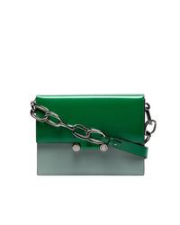 Bolso bandolera de cuero verde de Marni