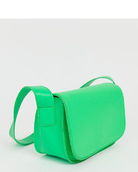 Bolso bandolera de cuero verde de My Accessories