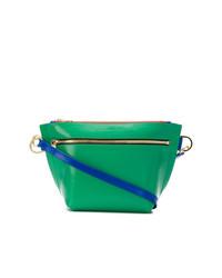 Bolso bandolera de cuero verde de Sacai