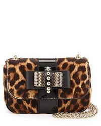 Bolso bandolera de leopardo marrón