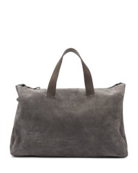 Bolso baúl de ante en gris oscuro
