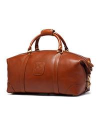 Bolso baúl de cuero en tabaco