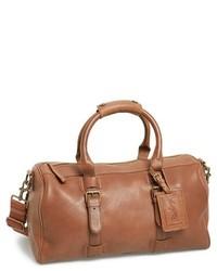 Bolso baúl de cuero marrón claro