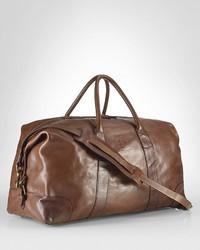 Bolso baúl de cuero marrón