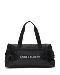 Bolso baúl de cuero negro de Saint Laurent