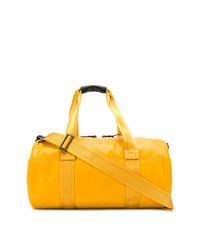 Bolso baúl de lona amarillo de Diesel