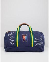 Bolso baúl de lona azul marino de Polo Ralph Lauren