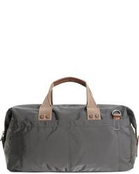 Bolso baúl de lona en gris oscuro