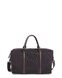 Bolso baúl de lona en marrón oscuro