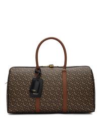 Bolso baúl de lona en marrón oscuro de Burberry