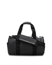 Bolso baúl de lona en negro y blanco de Diesel