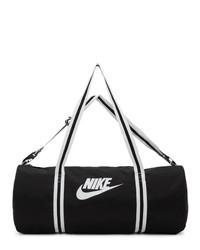 Bolso baúl de lona en negro y blanco de Nike