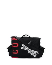 Bolso baúl de lona estampado negro de DSQUARED2