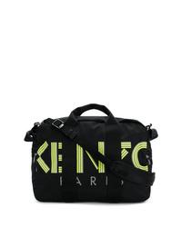 Bolso baúl de lona estampado negro de Kenzo