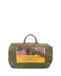 Bolso baúl de lona estampado verde oliva de Polo Ralph Lauren