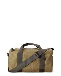 Bolso baúl de lona marrón