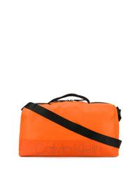 Bolso baúl de lona naranja de Calvin Klein