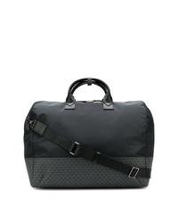 Bolso baúl de lona negro de Emporio Armani