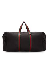 Bolso baúl de lona negro de Gucci