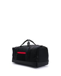 Bolso baúl de lona negro de Moncler