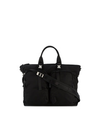 Bolso baúl de lona negro de Prada