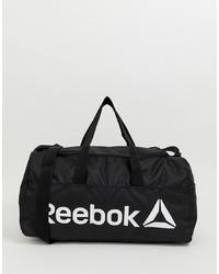 Bolso baúl de lona negro de Reebok