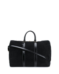 Bolso baúl de lona negro de Saint Laurent