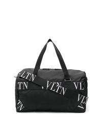 Bolso baúl de lona negro de Valentino
