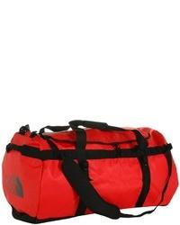 Bolso baúl de lona rojo