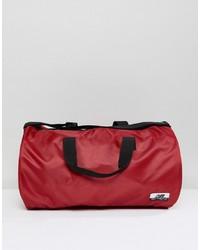 Bolso baúl de lona rojo de New Balance