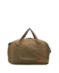 Bolso baúl de lona verde oliva de Aspesi