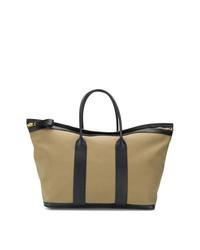Bolso baúl de lona verde oliva de Tom Ford