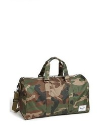 Bolso baúl de lona verde oscuro